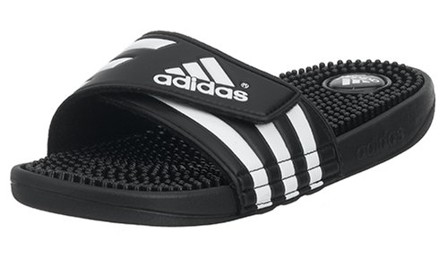 adidas Performance Women's Adissage W Athletic Sandal,Black/Black/White,11 M US