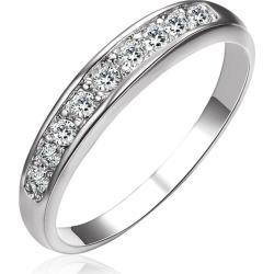 Sterling Silver Diamond Women Band Ring