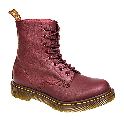 Dr. Martens Women's Pascal Combat Boot, Cherry Red, 5 UK/7 M US