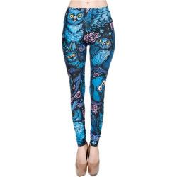 Fashion Night Owl Full Printing Pants Ladies Fitness Leggings Yoga Pants