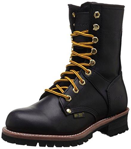 Adtec Women's 9″ Logger Black-W Boot, 8.5 M US
