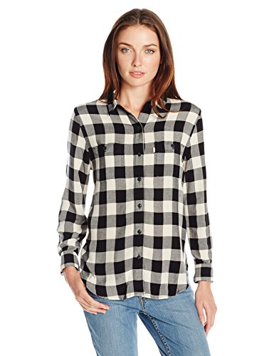 Levi's Women's Workwear Boyfriend Shirt, Wood Avens Birch (100% Cotton), Large