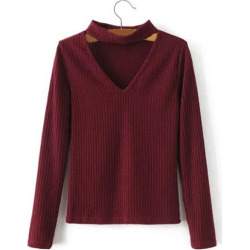 Pullover Ribbed Sweater