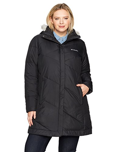 Columbia Women's SizeSnow Plus Size Snow Eclipse Mid Length Jacket, New Black, 1X