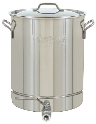 bayou classic 1064 stainless 16 gallon stockpot with spigot and vented lid - Bayou Classic 1064 Stainless 16-Gallon Stockpot with Spigot and Vented Lid