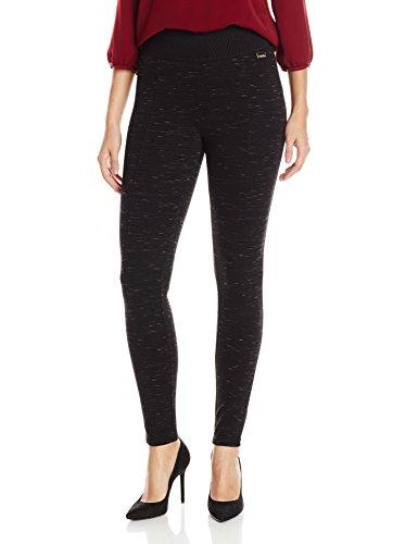 Calvin Klein Women's Space Dye Legging, Black, Medium