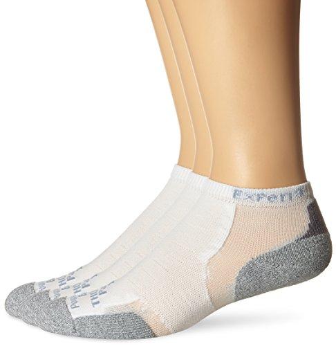 Thorlos Experia Unisex XCCU Multi-Sport Thin Padded Low Cut Sock, White (3 Pack), Large