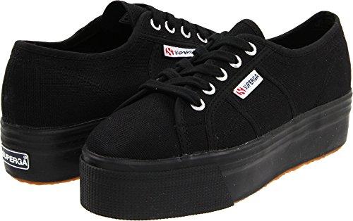 Superga Women's 2790 Acotw Fashion Sneaker,Full Black,39.5 EU/ 8.5 US
