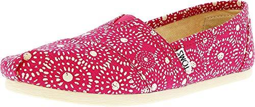 TOMS Seasonal Classics Fuchsia Shibori Dots Women's Slip on Shoes