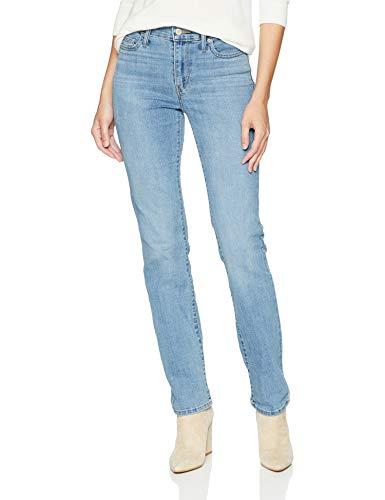 Levi's Women's Slimming Straight Jeans, Bright Blue Comet, 33 (US 16) R