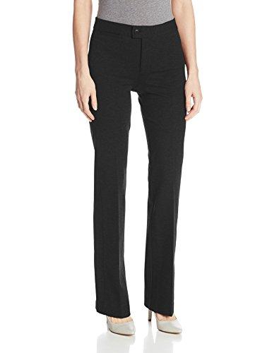 NYDJ Women's Ponte Trouser, Black, 8