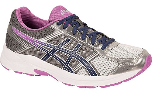 ASICS Women's Gel-Contend 4 Running Shoe, Silver/Campanula/Carbon, 8 D US
