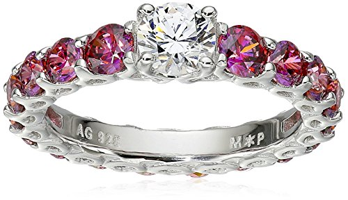 Myia Passiello Timeless Swarovski Zirconia Red Memoire Stackable Ring, Size 6