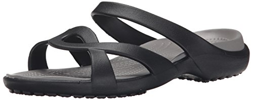 crocs Women's Meleen Twist Sandal, Black/Smoke, 9 US/9 M US