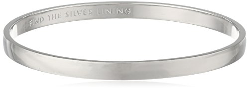 """Kate Spade New York """"Idiom Bangles Find The Silver Lining Solid Bangle Bracelet"""