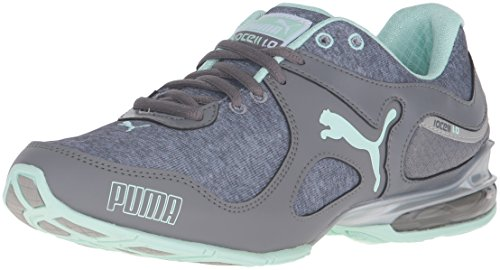 PUMA Women's Cell Riaze Heather Cross-Trainer Shoe, Steel Gray/Drizzle/Bay, 9.5 M US
