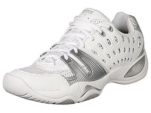 Prince Women's T22 Tennis Shoe,White/Silver,8.5 M US