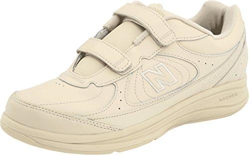 New Balance Women's WW577 Hook and Loop Walking Shoe, Bone, 7.5 2E US