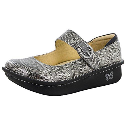 Alegria Paloma Wegde Flat Mary Jane Clog Shoe – Chain Mail – Womens – 38
