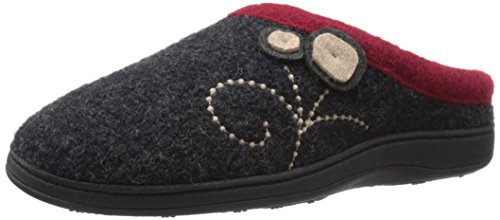 Acorn Women's Dara Slipper, Charcoal Button, Large/8-9 M US