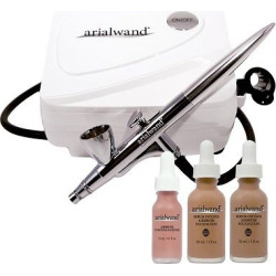 arialwand airbrush kit with serum infused foundation tan. Black Bedroom Furniture Sets. Home Design Ideas