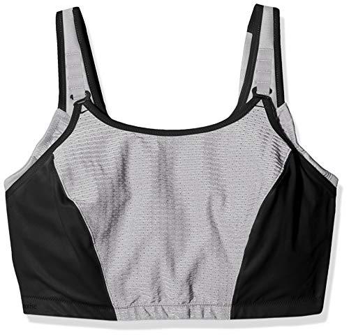 Glamorise Women's Plus Size Full Figure Adjustable Wirefree Sport Bra #1220, BLK, 44I