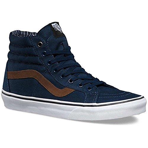 Vans V004OKJSC Unisex Sk8-Hi Reissue Skate Shoes, Dress Blues/White, 9 B(M) US Women / 7.5 D(M) US Men
