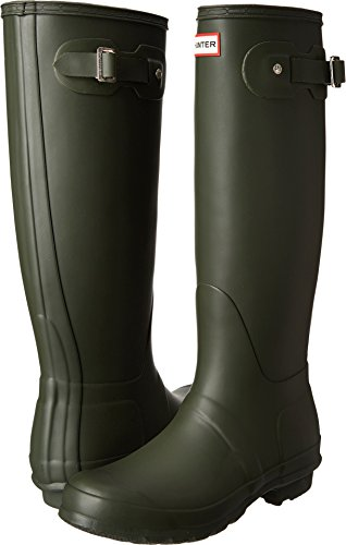 Hunter Women's Original Tall Dark Olive Rain Boots – 9 B(M) US