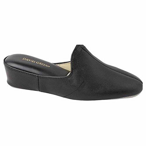 Daniel Green Women's Glamour Slipper,Black Kidskin,11 M