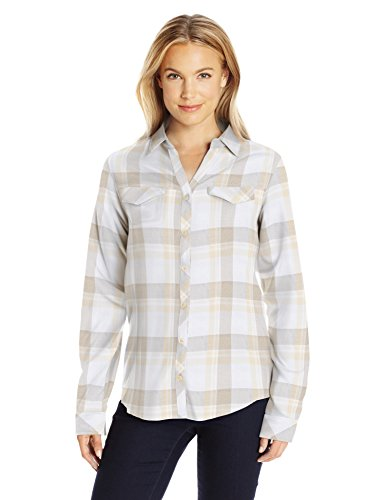 Columbia Women's Simply Put Ii Flannel Shirt, Chalk Open Ground Plaid, XL
