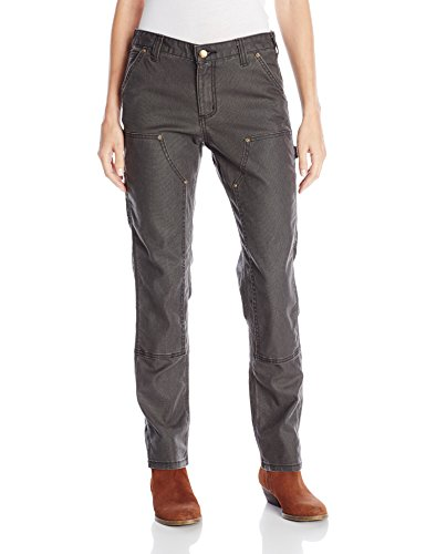 Carhartt Women's 1889 Slim Fit Canvas Dungaree, Shadow, 4 Tall