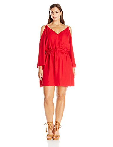 Single Dress Women's Plus Size Jessalyn Dress, Red, 2X