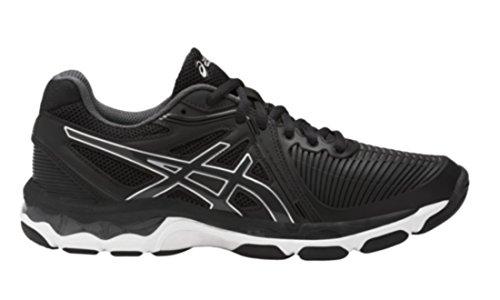 ASICS Women's Gel-Netburner Ballistic Volleyball Shoe, Black/Dark Grey/White, 8 Medium US