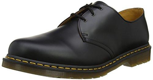 Dr. Martens unisex-adult 1461 3-Eye Gibson Black Nappa Leather Oxford UK 5 (US Women's 7) Medium