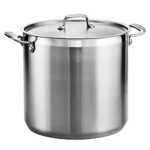 Tramontina 80120/002DS Gourmet Stainless Steel Covered Stock Pot, 20 quart