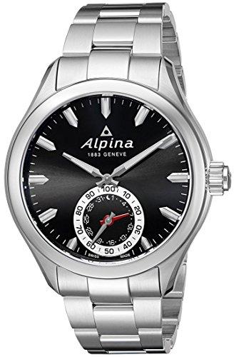 Alpina Men's AL-285BS5AQ6B Horological Analog Display Swiss Quartz Silver-Tone Smart Watch