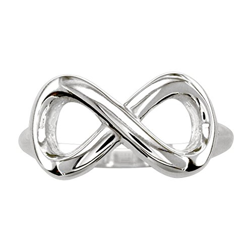 Wide Flowing Infinity Ring in Sterling Silver size 10