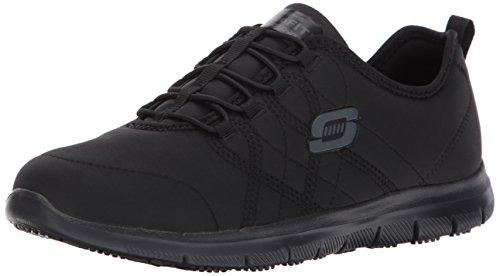 Skechers for Work Women's Ghenter Srelt Work Shoe, Black, 9 M US