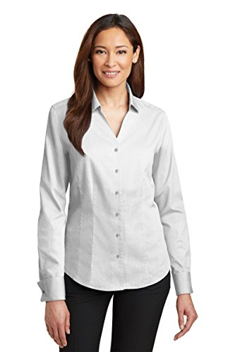 Red House Women's French Cuff Non Iron Pinpoint Oxford 3XL White