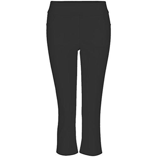 Tribal Women's Flatten It Pull-On Slim Leg Ankle Pant, Black, 14