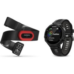 Garmin Forerunner 735XT GPS Running Watch Run Bundle, Black