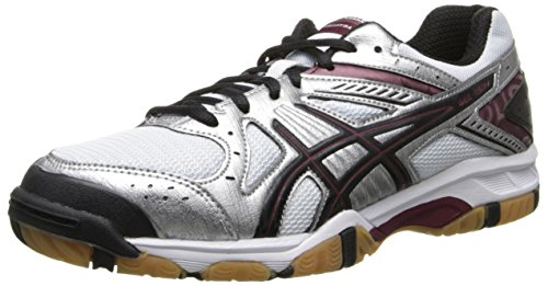 ASICS Women's Gel 1150V Volley Ball Shoe,Silver/Cardinal/Black,7.5 M US