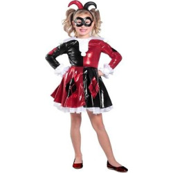 girls harley quinn costume xs multicolored - Girls' Harley Quinn Costume - XS, Multicolored