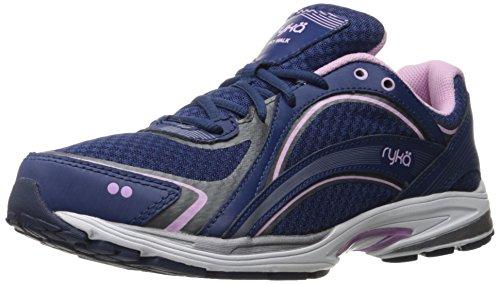 Ryka Women's Sky Walking Shoe, Navy/Lilac, 7 M US