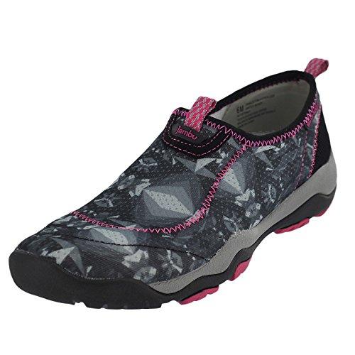 Jambu Women's Princton Hypergrip Water Ready Water Shoe, Black/Pink, 10 M US