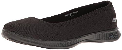 Skechers Performance Women's Go Step Lite-Solace Walking Shoe, Black, 8 M US