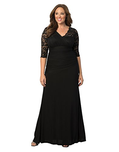 Kiyonna Women's Plus Size Soiree Evening Gown 5x Onyx