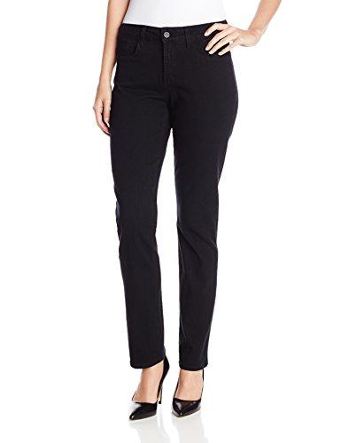 NYDJ Women's Sheri Skinny Jeans, Black, 6