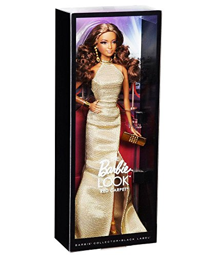 barbie the look red carpet black label collector gold dress barbie doll - Barbie The Look Red Carpet Black Label Collector: Gold Dress Barbie Doll