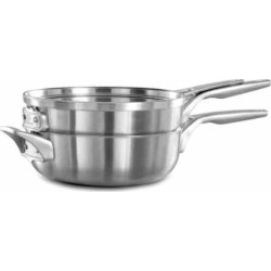 Calphalon Premier Space Saving 3-pc. 10-in. Stacker Stainless Steel Cookware Set, Grey